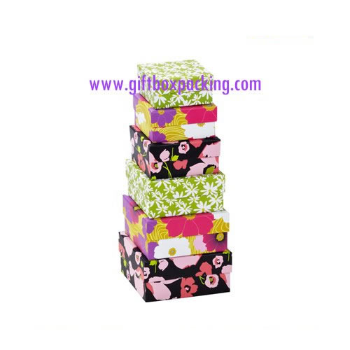 holiday nesting boxes Floral Nested Boxes