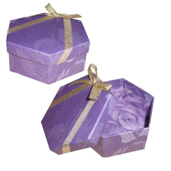 Purple lid boxes