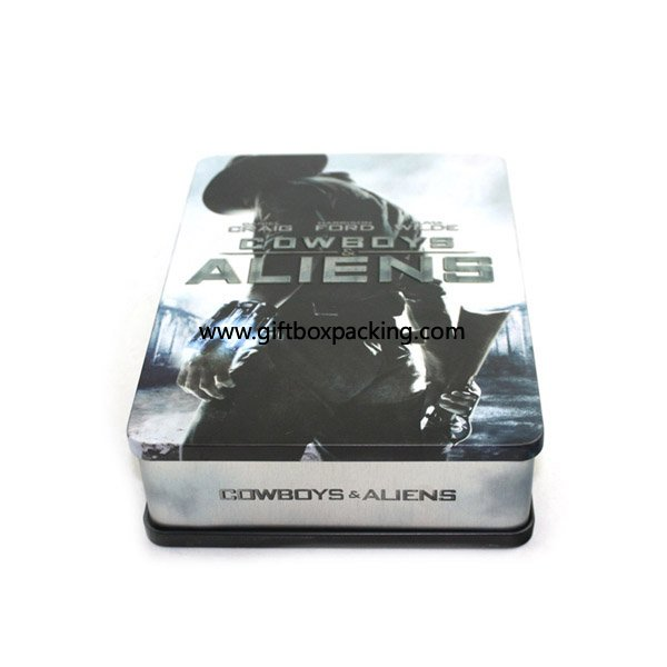 rectangular double cover DVD tins for children gift box