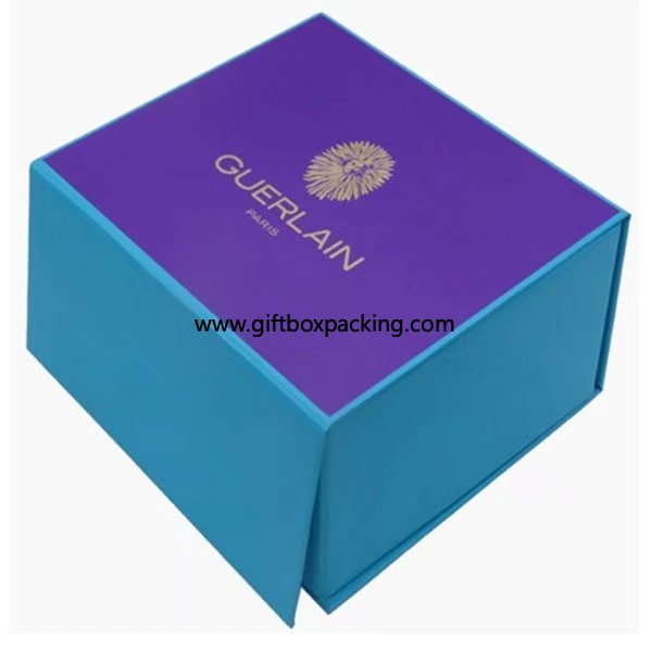Logo hot gold stamping cardboard rigid display packaging box for ring/earrings
