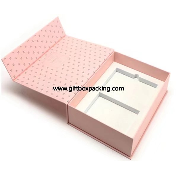 Book type with magnetic cardboard gift packaging box with EVA foam insert for oil candle